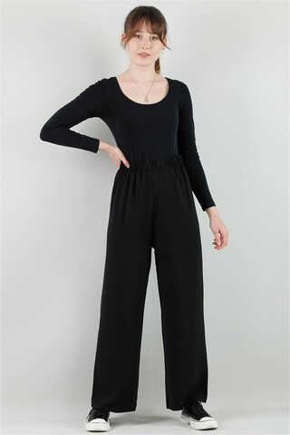 LOREEN - Aerobin Bol Paça Pantolon Siyah