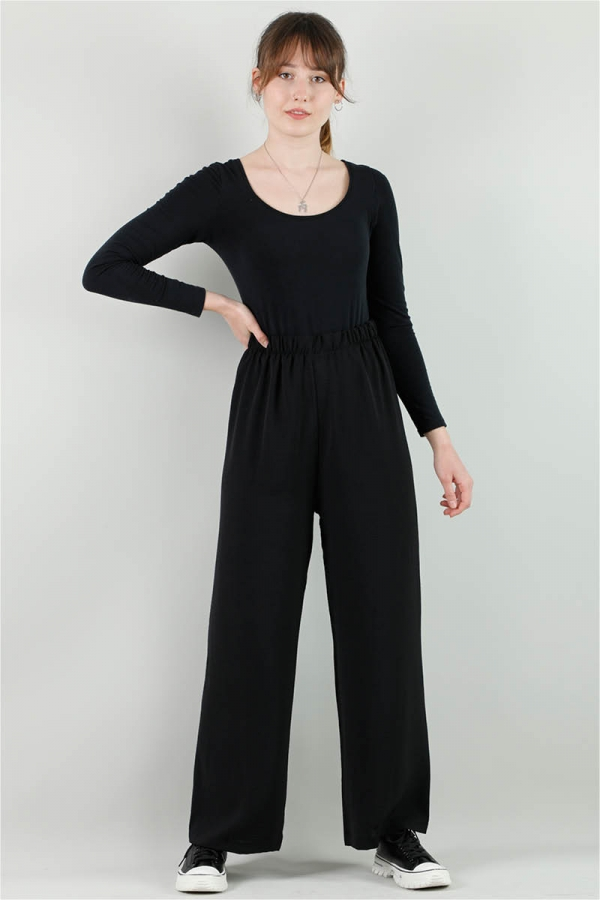 Aerobin Bol Paça Pantolon Siyah