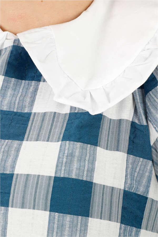 Bebe Yakalı Elbise Mavi