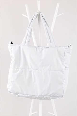 - Büyük Spor Çanta Metalik Beyaz
