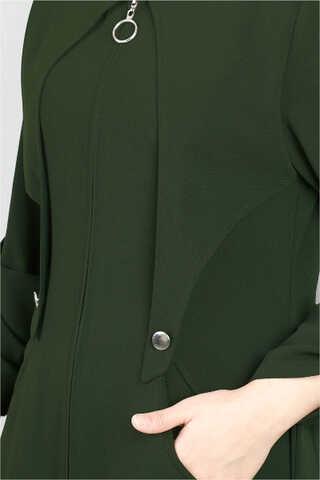Cepkenli Koyu Yeşil Ferace - Thumbnail