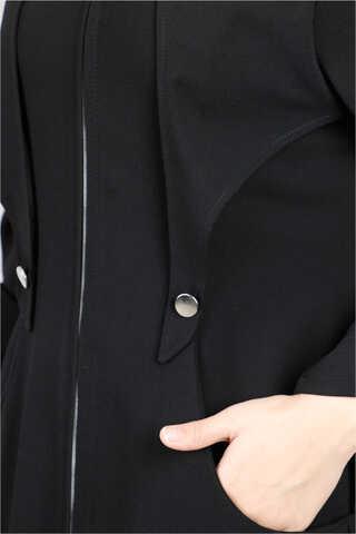 Cepkenli Siyah Ferace - Thumbnail