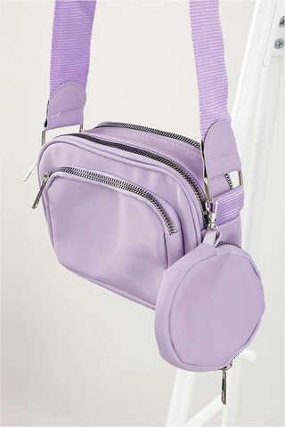 - Cüzdanlı Çanta Lila