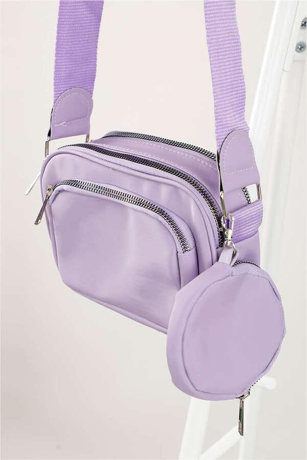 Cüzdanlı Çanta Lila