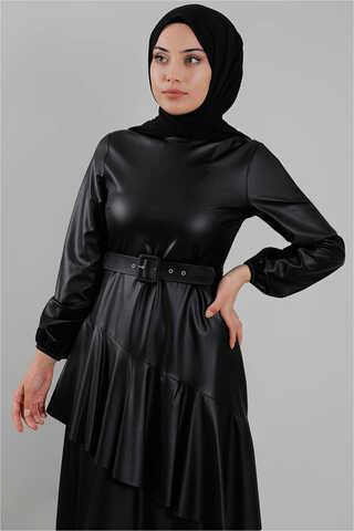 Deri Elbise Siyah - Thumbnail