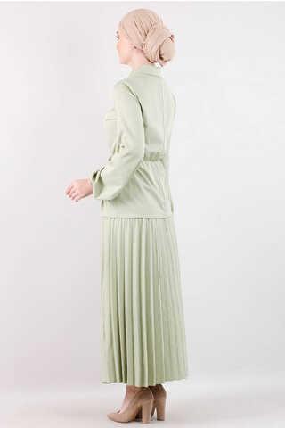 Elegant Etek Takım Çağla Yeşili - Thumbnail