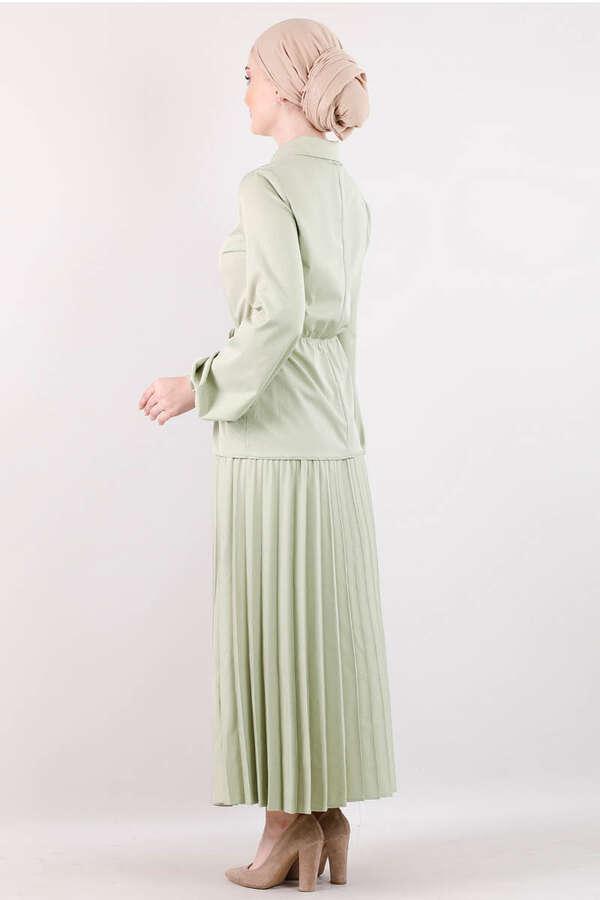 Elegant Etek Takım Çağla Yeşili