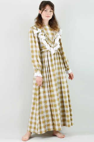 - Fransız Model Elbise Hardal