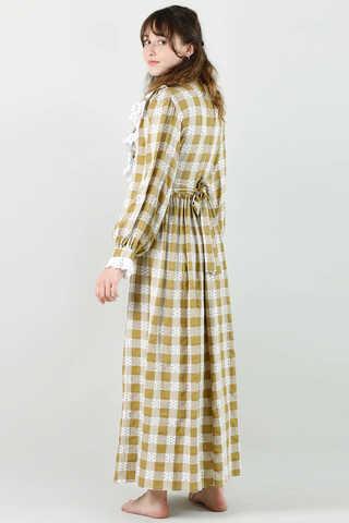 Fransız Model Elbise Hardal - Thumbnail