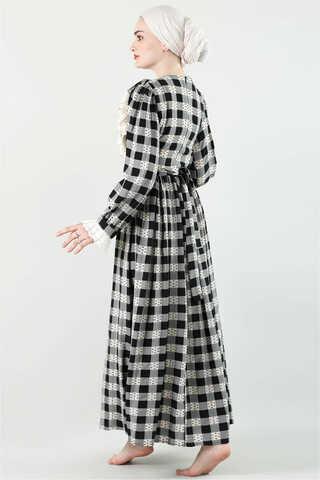 Fransız Model Elbise Siyah - Thumbnail