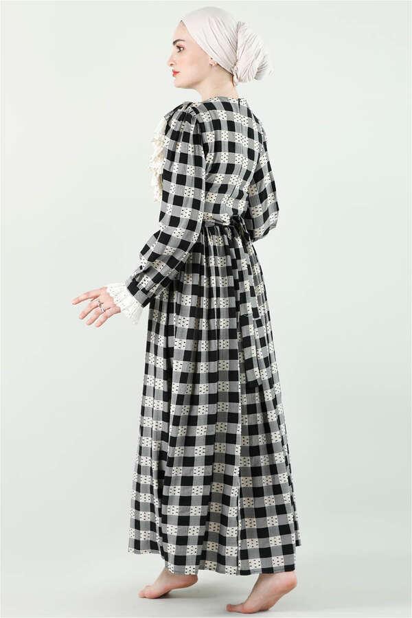 Fransız Model Elbise Siyah