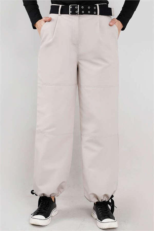 Gabardin Kargo Pantolon Çakıl