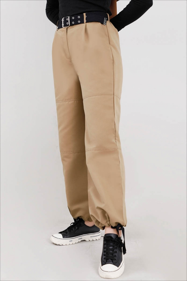 Gabardin Kargo Pantolon Taş