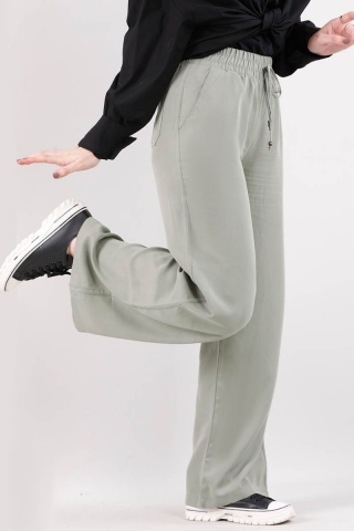 Geniş Paça Pantolon Mint - Thumbnail