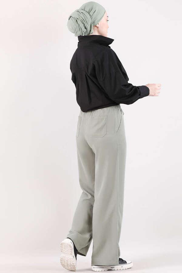 Geniş Paça Pantolon Mint