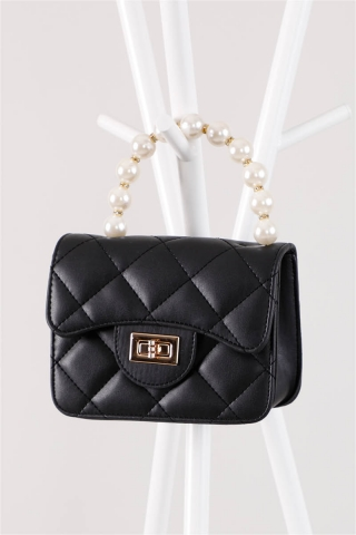- İnci Çanta Siyah