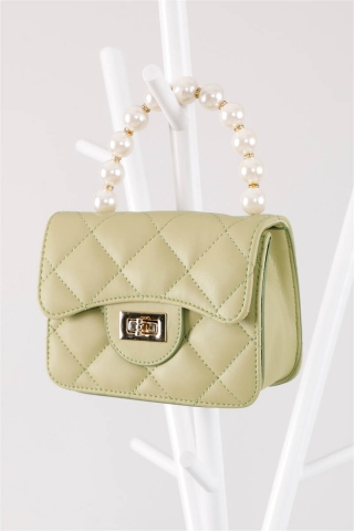 İnci Çanta Yeşil - Thumbnail