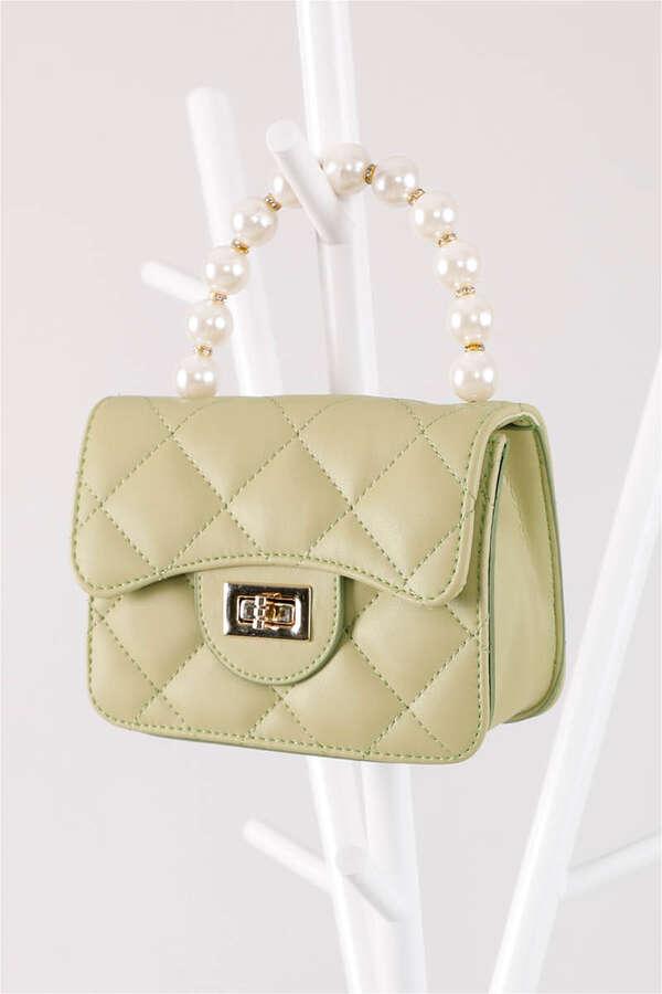 İnci Çanta Yeşil