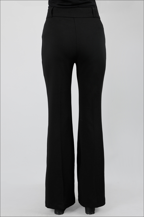 İspanyol Paça Pantolon Siyah