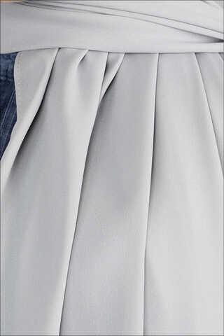 Krep Şifon Şal Gümüş - Thumbnail