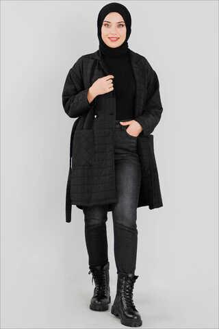 Belemir - Kapitone Ceket Siyah