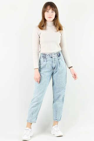 - Kar Yıkama Mavi Kot Pantolon