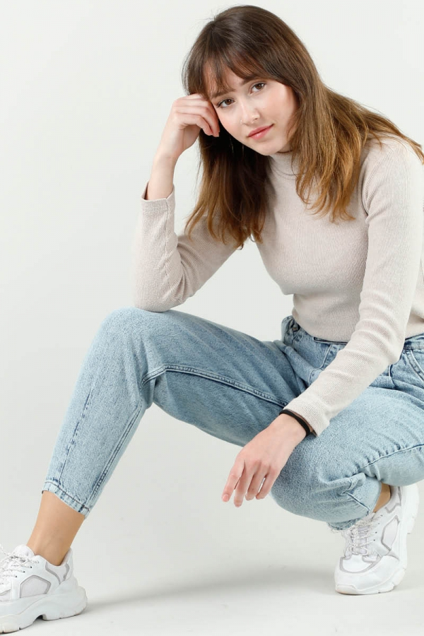 Kar Yıkama Mavi Kot Pantolon
