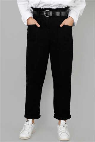 Zulays - Kemerli Pantolon Siyah