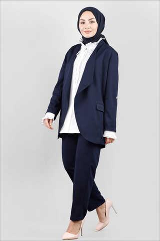 Zulays - Klasik Pantolonlu Ceket Takım Laci