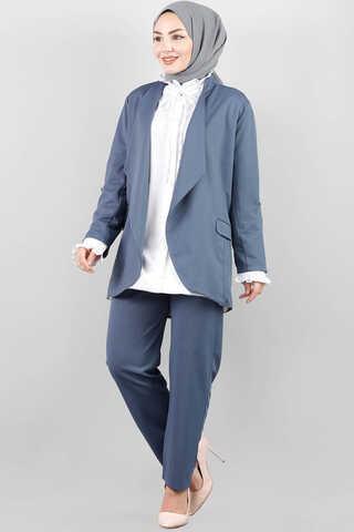 Klasik Pantolonlu Ceket Takım Mavi - Thumbnail