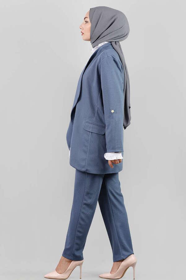 Klasik Pantolonlu Ceket Takım Mavi