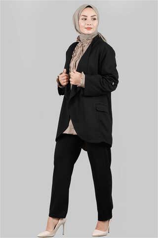 Zulays - Klasik Pantolonlu Ceket Takım Siyah