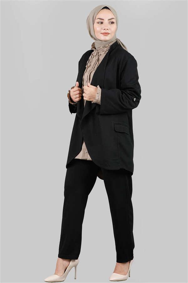 Klasik Pantolonlu Ceket Takım Siyah