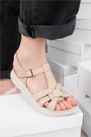 - Klasik Sandalet Bej
