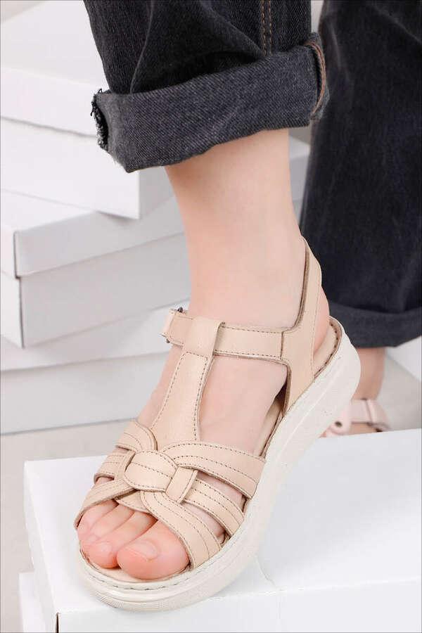 Klasik Sandalet Bej