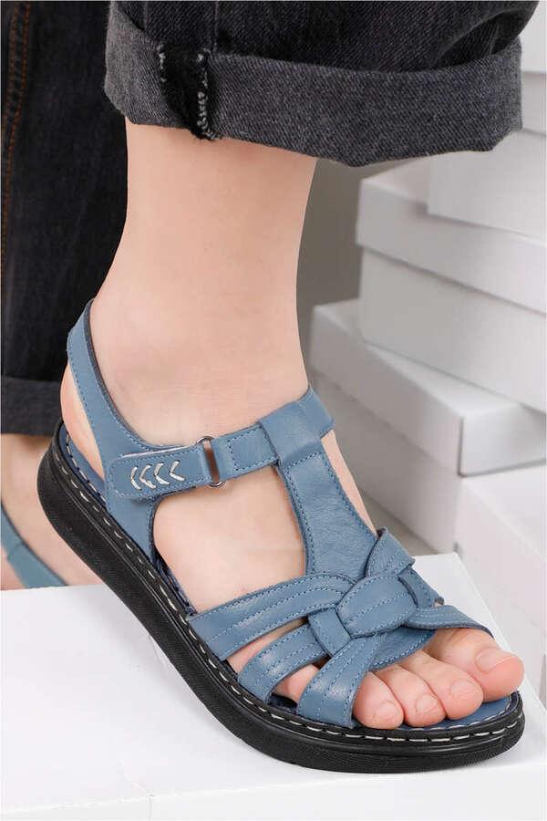 Klasik Sandalet İndigo