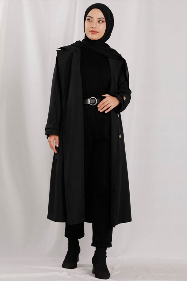 Klasik Trenç Siyah
