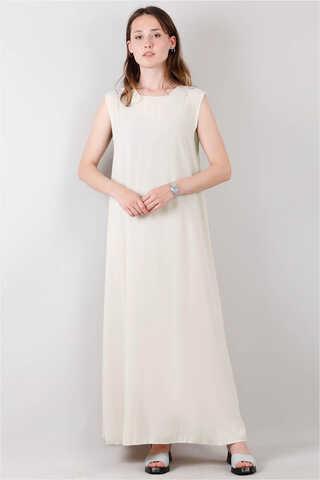 Zulays - Kolsuz İçlik Elbise Bej