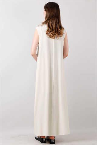 Kolsuz İçlik Elbise Bej - Thumbnail