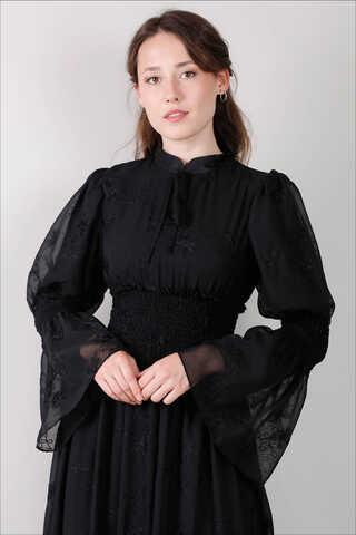 Liza Elbise Siyah - Thumbnail