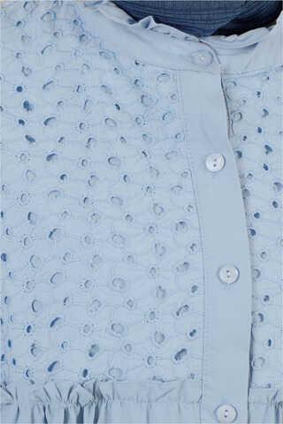 Ön Robası Dantelli Gömlek Mavi - Thumbnail