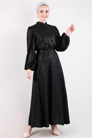 Zulays - Osmanlı Desenli Etek Takım Siyah
