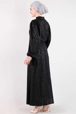 Osmanlı Desenli Etek Takım Siyah - Thumbnail
