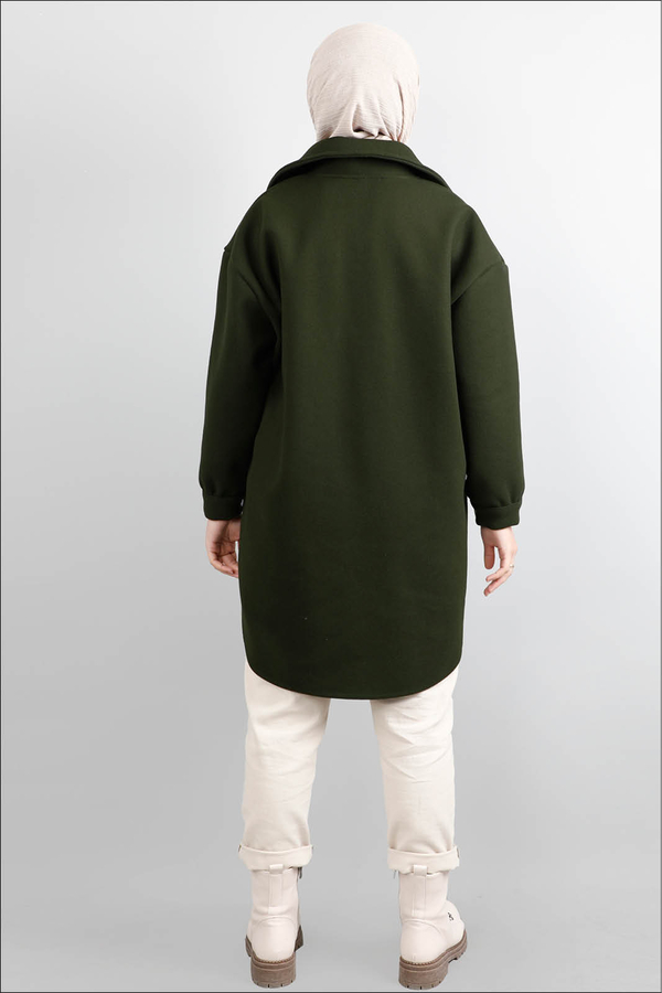 Oversize Gömlek Ceket Haki