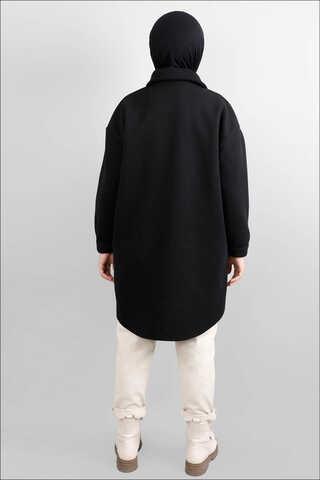 Oversize Gömlek Ceket Siyah - Thumbnail