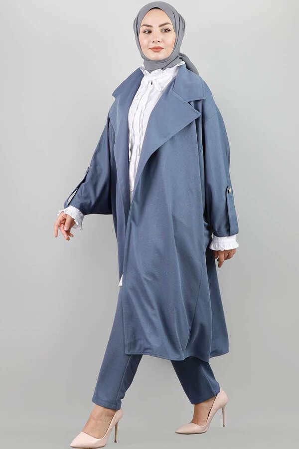 Oversize Takım Mavi