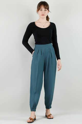 ALLDAY - Paçası Lastikli Pantolon İndigo