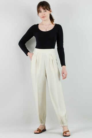 ALLDAY - Paçası Lastikli Pantolon Taş