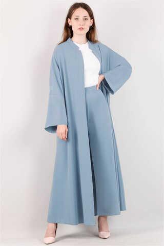 Zulays - Pantolonlu Abaya Takım Mavi