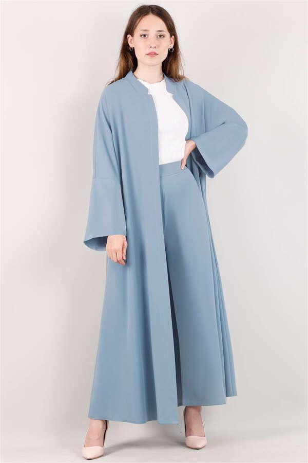Pantolonlu Abaya Takım Mavi